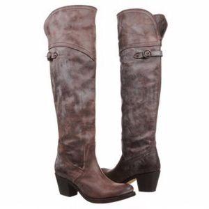 FRYE Jane OTK Rustic Leather Boots